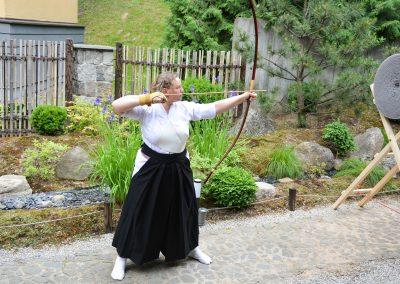 Kyudo pristatymas japoniškame sode Sei Shin en Vilniuje 2020 birželis